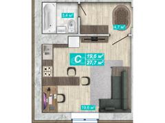 Квартира-студия в новостройке